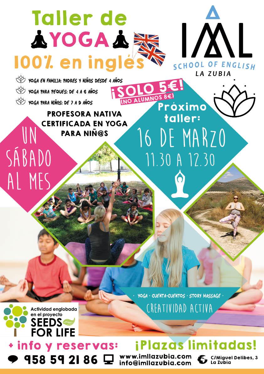 taller de yoga para niños en inglés